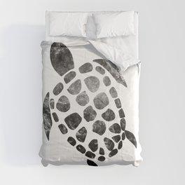 Minimal Sea Turtle #1 #animal #decor #art #society6 Comforters