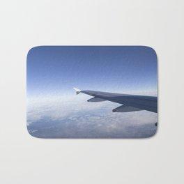 Heavenly Blue Skies Flying Bath Mat