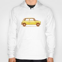 mini cooper Hoodies featuring Famous Car #1 - Mini Cooper by Florent Bodart / Speakerine