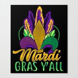 Mardi Gras Y'All Canvas Print