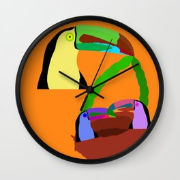 tucan mother Wall Clock