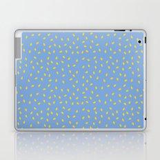 Yellow Pit on Blue /// www.pencilmeinstationery.com Laptop & iPad Skin