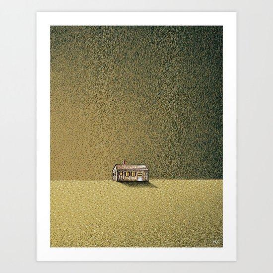Long Narrow Home Outside Oneonta Art Print