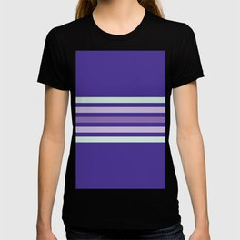 Minimal retro purple color palette T-shirt