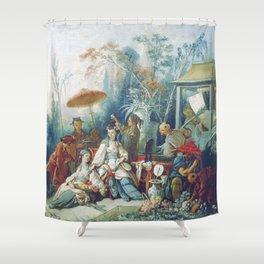 Le Jardin Chinois by François Boucher Shower Curtain