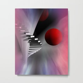 go upstairs - portrait format Metal Print