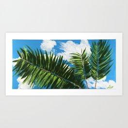 Calm Palms Art Print