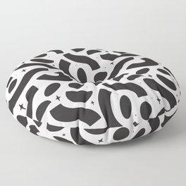 Macaroni Sky Black and White Floor Pillow