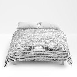 Black Stripes II Comforters