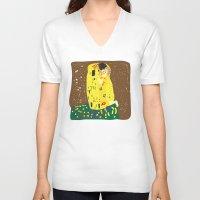 klimt V-neck T-shirts featuring klimt by John Sailor