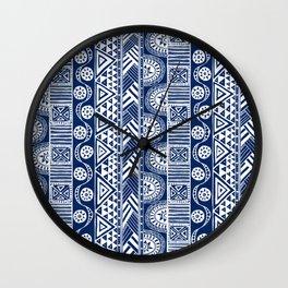 bohemian in blue Wall Clock