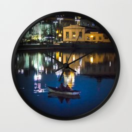 Night in the town Wall Clock