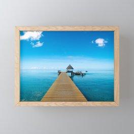 Tahiti Boat Dock Framed Mini Art Print