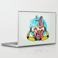 borderlands Laptop & iPad Skins featuring caravan fam by hydrae