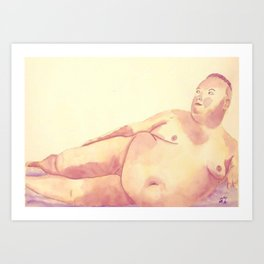Plush Lines Art Print