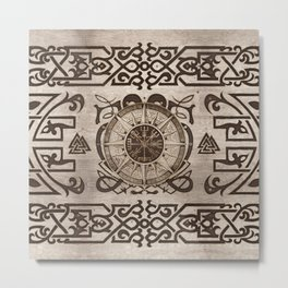 Vegvisir - Viking Compass Ornament #3 Metal Print