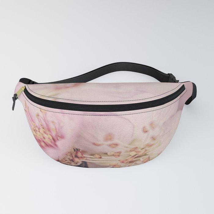 Romantic Soft Pink Peach Blossom Fanny Pack