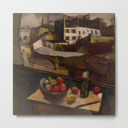 Diego Rivera - Knife and Fruit in Front of the Window Metal Print
