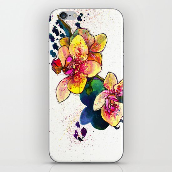 Inky Orchid iPhone Skin
