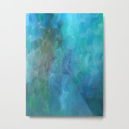 Braided Blues Metal Print