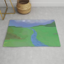 Countryside-river,fields Rug