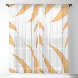 orange pointed leaves Sheer Curtain