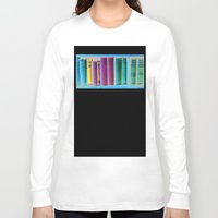 library Long Sleeve T-shirts featuring Library Wisdom by Jean Ladzinski