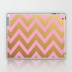 pink and gold chevron Laptop & iPad Skin