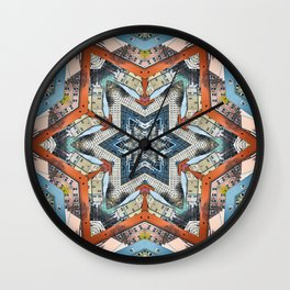 Abstract Geometric Structures Wall Clock