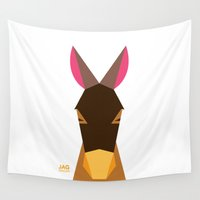 donkey Wall Tapestries featuring Donkey by Page 84 Design