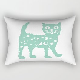 Mint cat drawing, cat drawing Rectangular Pillow
