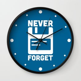 Never Forget Floppy Disk Wall Clock