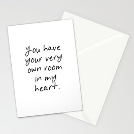 You have your own room Stationery Cards
