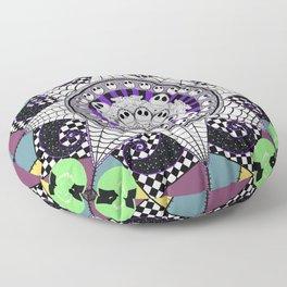 Nightmarish zentangle Floor Pillow