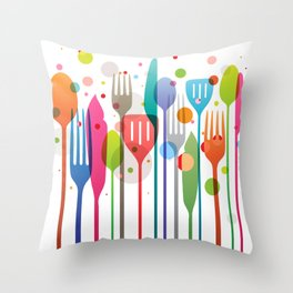 Color Feast Throw Pillow