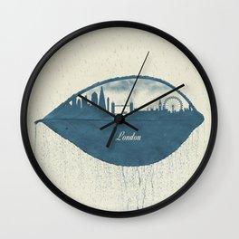 Rainy Day in London Wall Clock