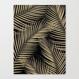 Palm Leaves - Gold Cali Vibes #2 #tropical #decor #art #society6 Canvas Print