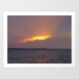 Orange sky opening Art Print