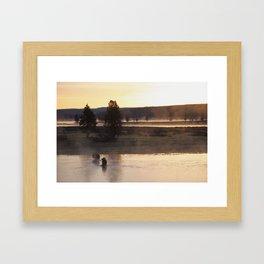 Yellowstone Sunrise Framed Art Print