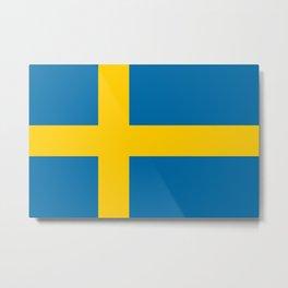 Sweden Flag Swedish Patriotic Metal Print