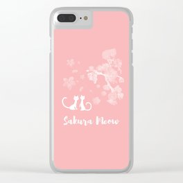 Sakura Cats Clear iPhone Case