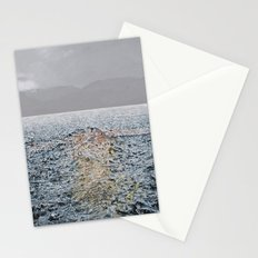Swimming under the rain Stationery Cards