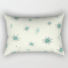 Mid Century Stars Retro Vintage Pattern Rectangular Pillow