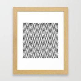 Black & White Hand Drawn ZigZag Pattern Framed Art Print