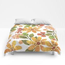 sunny flowerbed Comforters