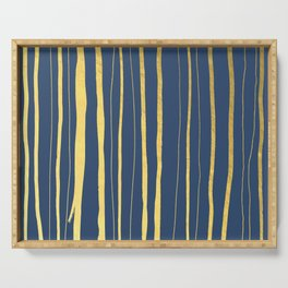Vertical Living Navy and Gold Serving Tray