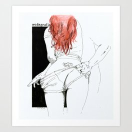 NUDEGRAFIA - 24 CARPE DIEM Art Print