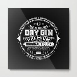 Shelby Brothers Dry Gin Metal Print