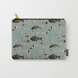 Fish Folk Fishes Texture Pattern Carry-All Pouch