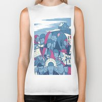 eternal sunshine Biker Tanks featuring Eternal Sunshine of the Spotless Mind by Ale Giorgini
